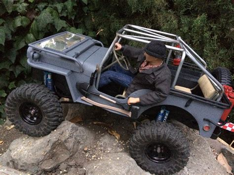 jeep rock crawler rc rc willys jeep 1 test rock crawling backyard scale