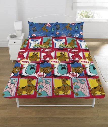 Double Duvet Set New Scooby Doo Monsters Rotary Double Bed Duvet Quilt