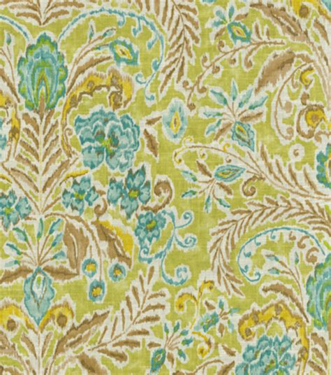 green home decor fabric home decor print fabric dena ara green tea jo ann