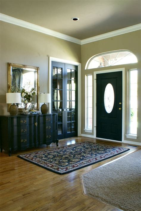 Front Door Interiors Black Front Door For Simple And Attracting Applications Homestylediary