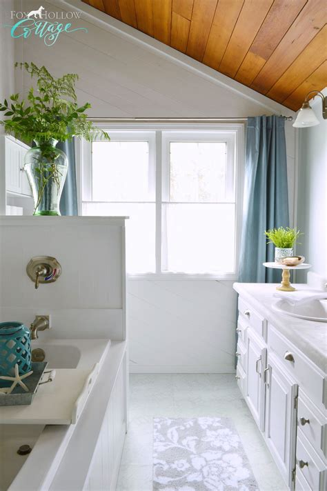 small bathroom makeovers casual cottage coastal cottage bathroom makeover fox hollow cottage