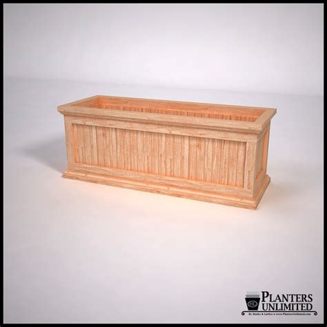 western cedar planter box commercial outdoor
