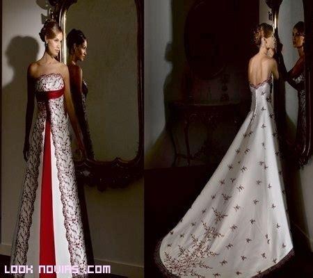 imagenes de vestidos de novia con detalles rojos fotos de vestido de novia blanco con detalles rojos quotes