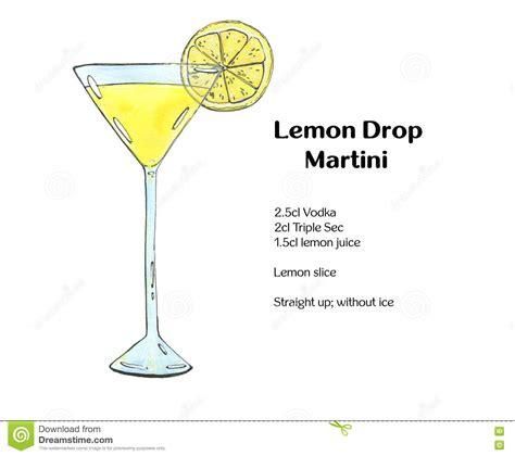 lemon drop martini clip watercolor cocktail lemon drop martini on white