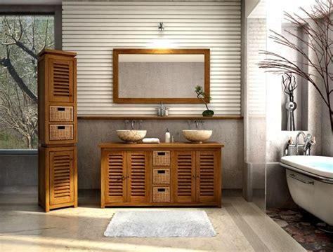 meuble salle de bain teck solde vente meuble de salle de bains en teck lombok l160 walk meuble en teck salle de bain