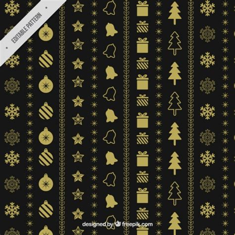 elegant pattern ai elegant golden pattern of christmas items vector free