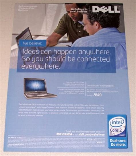 dell ad 2007 dell latitude 630 notebook laptop color print computer ad