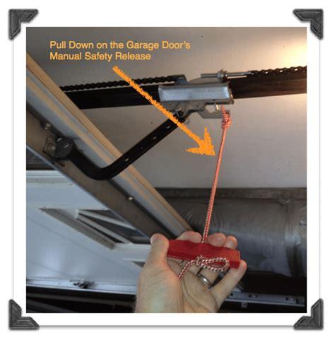 Overhead Door Emergency Release How To Replace Garage Door Extension Springs Guest Post Home Repair Tutor Pretty Handy