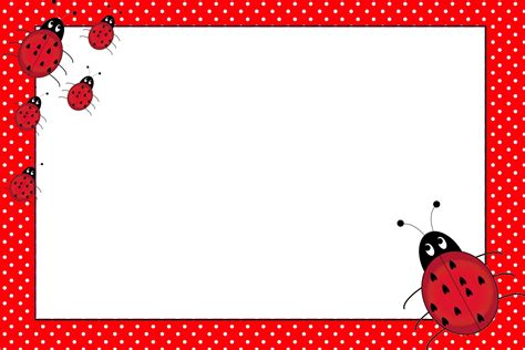 free printable birthday cards ladybugs lovely ladybugs free printable invitations oh my fiesta