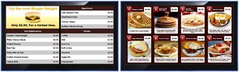digital menu boards electronic menus and software
