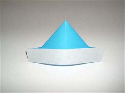 Folded Paper Hat - simple origami origami hat