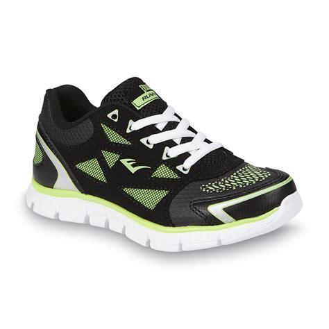 football running shoes athletech boy s sprint black green running shoe fitness