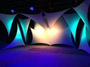 design ideas shattered spandex church stage design ideas