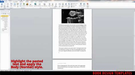 Book Layout Design Youtube | interior book design template demo for ms word youtube