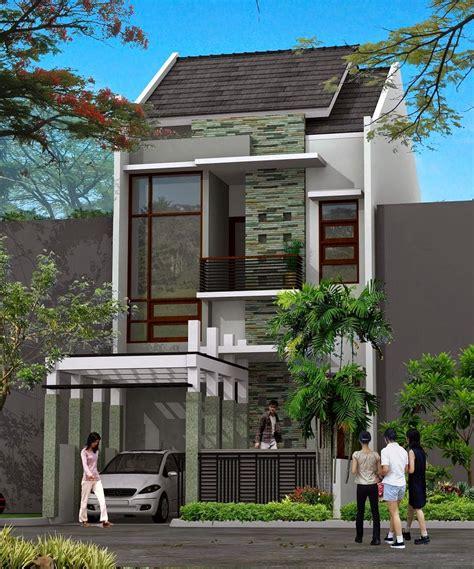 desain rumah minimalis 2 lantai lahan sempit model rumah unik