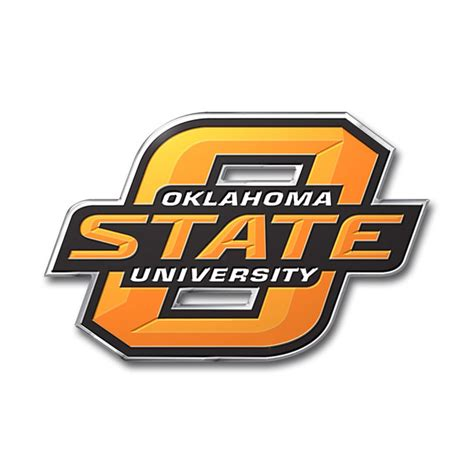 oklahoma state colors oklahoma state cowboys color auto emblem die cut