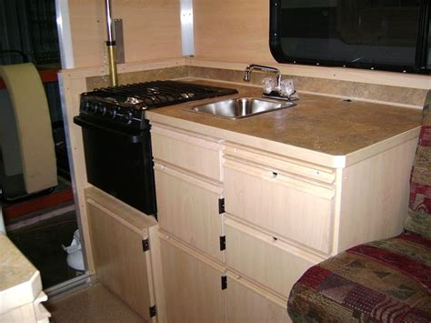 rv kitchen cabinets cer trailer cabinets cool yellow cer trailer