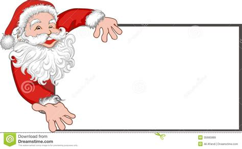free santa card templates santa claus with a blank billboard stock vector image