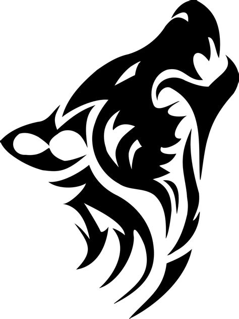 tribal wolf head tattoo designs 25 tribal animal designs