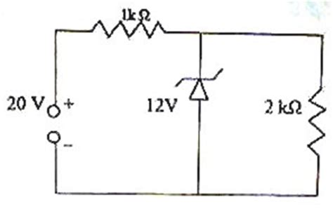 zener diode ka upyog physicsplus electronics choice questions on zener diodes