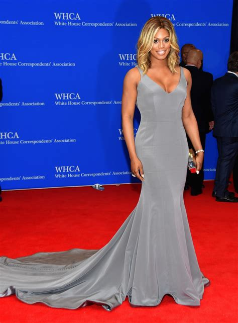 2015 white house correspondents association laverne cox in ines di santo at the 2015 white house