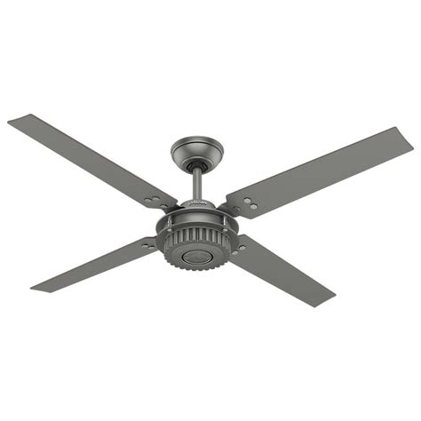 gray ceiling fan with light hunter key biscayne 54 in indoor outdoor weathered zinc
