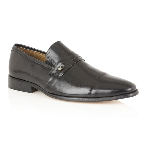 rombah wallace s joss black leather slip on shoes