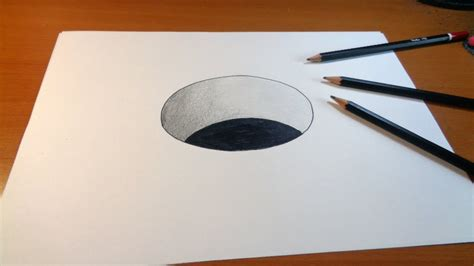 3d drawing online free drawing 3d hole how to draw 3d hole for kids youtube