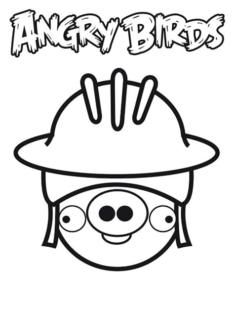 cute angry birds coloring pages cute angry bird pigs coloring pages cute angry bird pigs