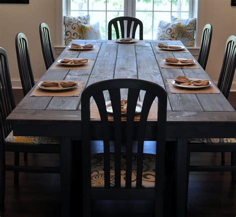 dinner table how to make a farmhouse dining table large and beautiful