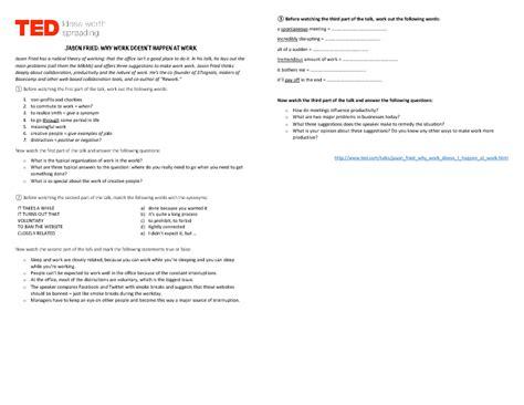 ted talk worksheet answers work worksheet bluegreenish