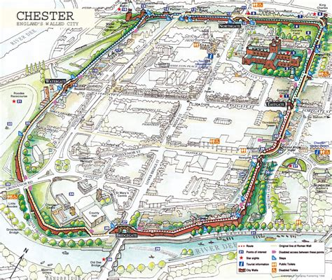 map uk chester chester map