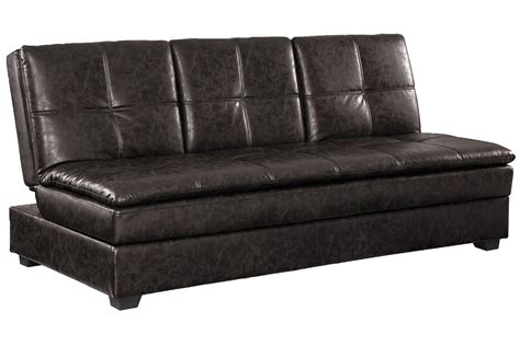 brown leather convertible sofa bed kingsley serta sofa