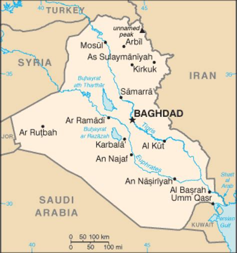 travel directions and map map of iraq terrain area and outline maps of iraq