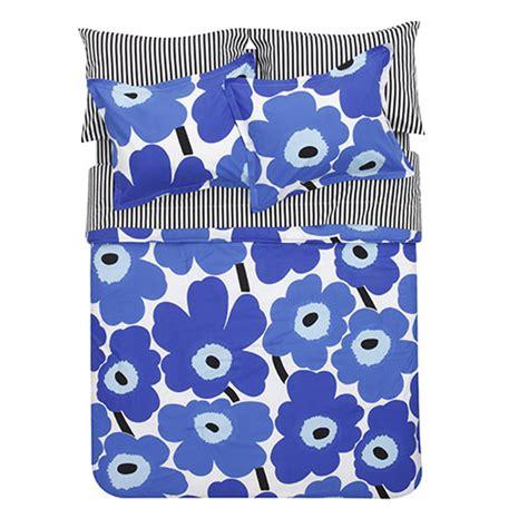 marimekko bedding marimekko unikko blue percale bedding marimekko bed