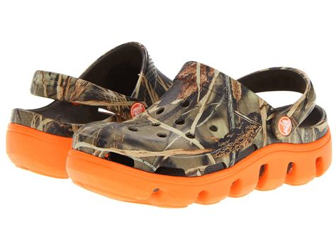 crocs 4 5 toddler crocs duet sport realtree clog toddler kid chocolate orange zappos free