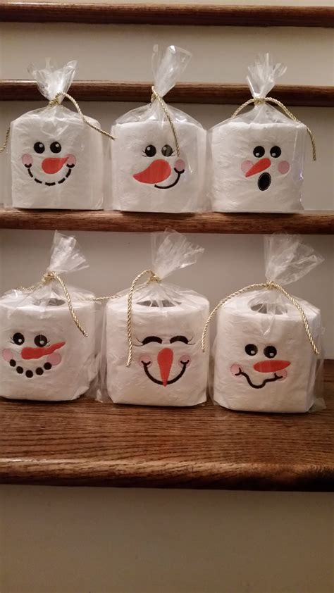 snowman toilet paper christmas embroidery pinterest