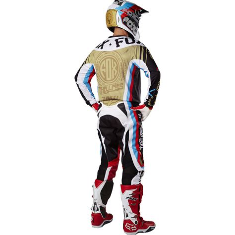 motocross gear gold fox racing 2017 mx new 360 rohr black gold jersey pants