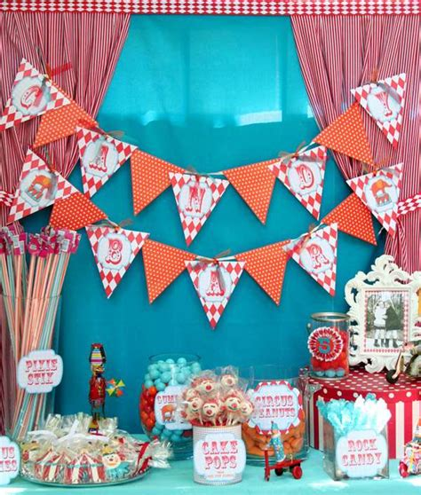 Carnival Birthday Decorations by Circus Carnival Birthday Ideas Photo 4 Of 22