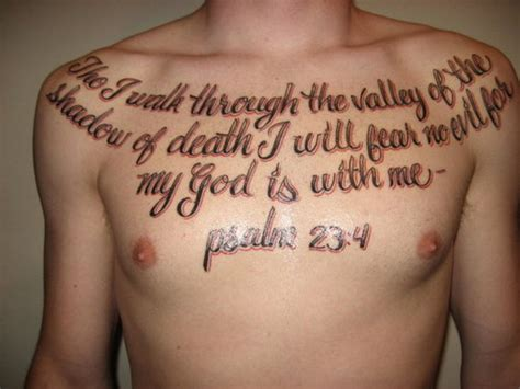 psalm 23 4 tattoo picture at checkoutmyink com