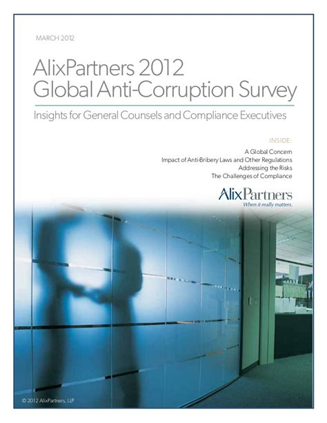 Alix Partner Mba Consultant Linkedin by Alix Partners Anti Corruption Survey 2012
