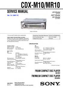sony cdx m10 mr10 service manual free schematics eeprom repair info for electronics