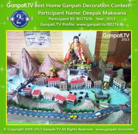 Home Ganpati Decoration by Ganpati Decoration Contest 2017 Ganpati Tv