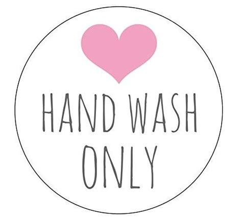 amazon com 20 hand wash only stickers packaging shop