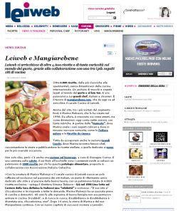 leiweb cucina leiweb e mangiarebene partnership editoriale e