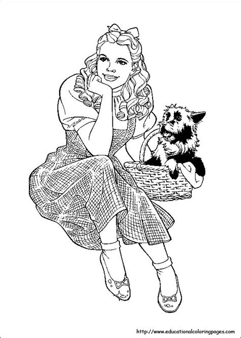 wizard of oz coloring pages free for kids