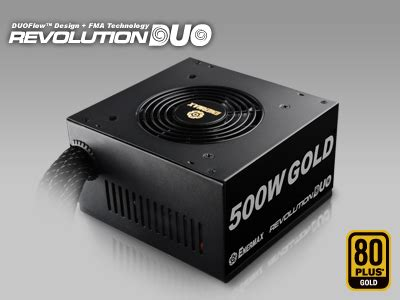 Enermax Revolution Duo 80 Gold 500w Erd500awl F enermax revolution duo power supply as cool as most psus modders inc