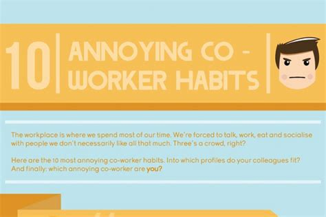 10 Most Annoying Habits And 10 Ways To Fix Them by Annoying Co Worker Quotes Quotesgram