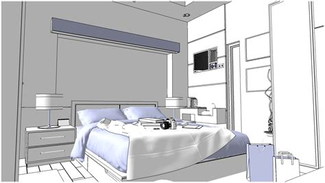 sketchup texture  sketchup  scene bedroom  visopt