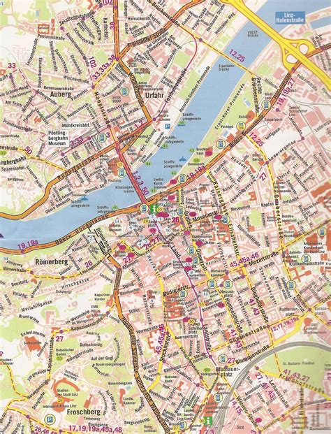 detailed map of maps of linz detailed map of linz in maps of